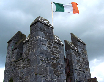 The official flag of the Irish Free State has a meaning of peace. The green represents the Catholics, the orange the Protestants and the white the hope for unity between them