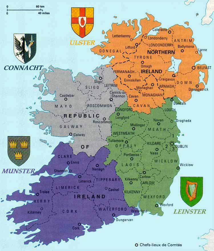 Republic Of Ireland Eire Images - Ireland provinces map